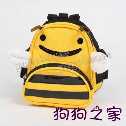 ☆狗狗之家☆honeybee 黃色小蜜蜂 寵物自背背包 書包(無附牽繩)