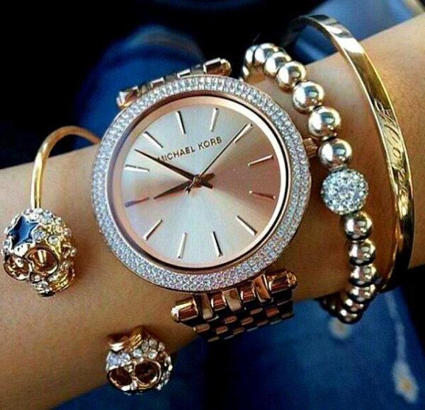 美國Outlet正品代購 MichaelKors MK 玫瑰金 水鑽錶圈 超薄 手錶腕錶 MK3192