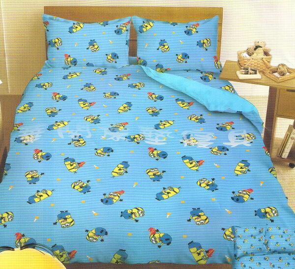 ~華閣床墊寢具暢貨 中心~~小小兵~高速前進~單人床包組~床包 枕套^~1~ MIT
