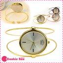 *餅乾盒子* USS質感鐵絲 手環手錶 韓國 簡約 復古 氣質 優雅 石英錶 腕錶 女錶 百搭 休閒 圓形 立體