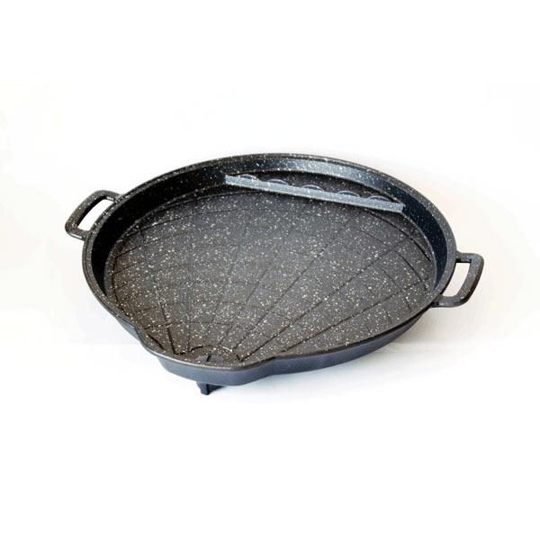【韓國Hanaro 】貝殼排油烤盤★不沾鍋烤盤/韓國烤盤(約30cm)PA06
