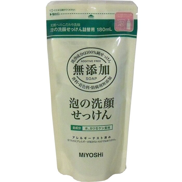 【日本 MIYOSHI 無添加】泡沫洗顏乳-補充包 0