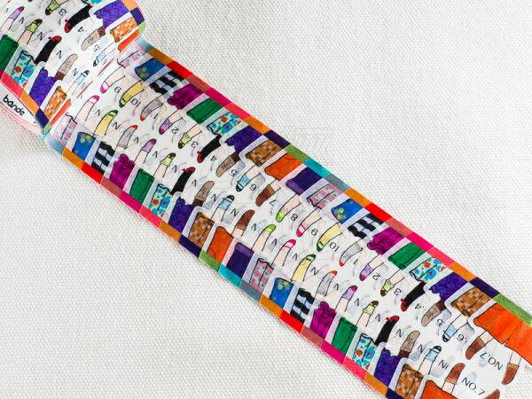 *小徑文化*日本進口 NICO Bande 和紙貼紙 索引標籤 系列 - 顛倒的腳 ( BDA 023 )