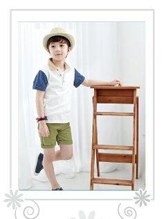 韓版紳士風男童短袖POLO衫童裝夏款童裝翻領短袖