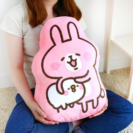 正版卡娜赫拉的小動物抱枕(抱小雞款) 靠墊 靠枕 娃娃 兔子 小兔兔 P助 小雞 Kanahei【N202061】