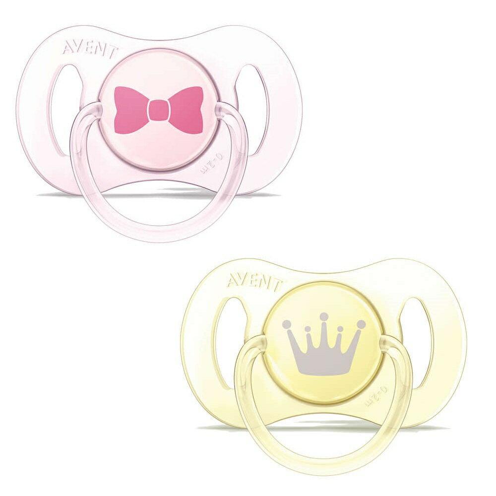 AVENT新安怡英國【PHILIPS AVENT】迷你矽膠安撫奶嘴(黃粉色2入裝) 0