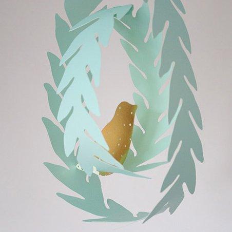 =優 =韓國家居zakka風森林系自由鳥卡片DIY立體吊卡 派對佈置 吊飾道具 兒童房裝飾