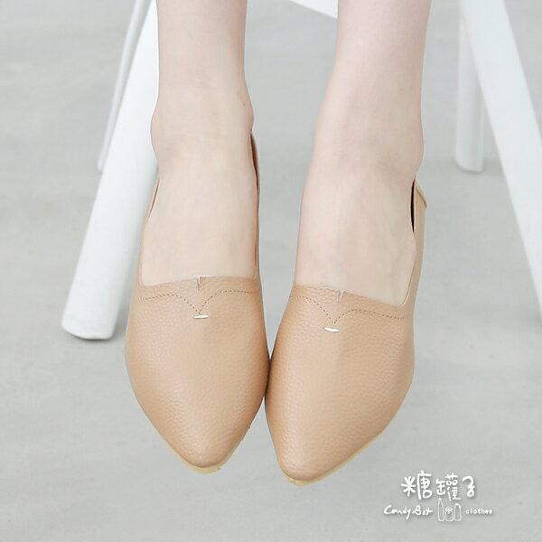 ★原價1400下殺750★糖罐子縫線尖頭平底鞋→預購【DD1583】 2