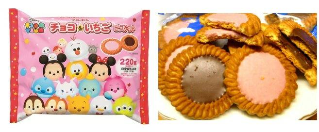 有樂町進口食品 日本 季節限定 北日本 X'MAS 迪士尼巧克力&草莓餅 4901360317929 1