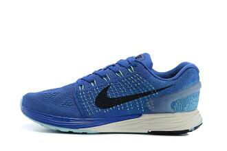 NIKE LUNARGLIDE 7代 登月針織版 晨跑運動鞋 休閒慢跑鞋 寶藍黑 男鞋