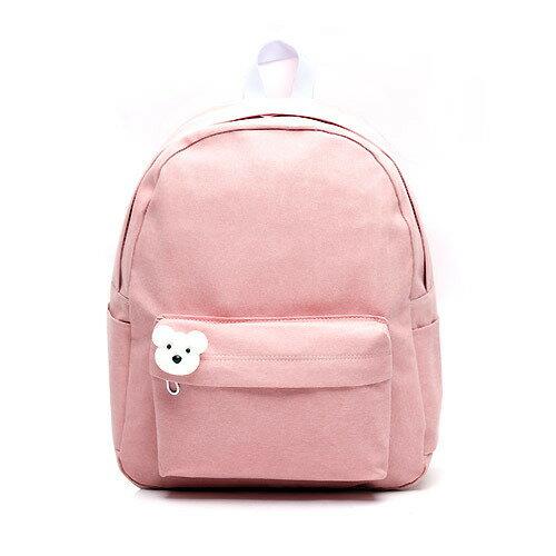 後背包 韓國品牌AFRICA RIKIKO 水洗布後背包 NO.126 핑크(Pink) - 包包阿者西