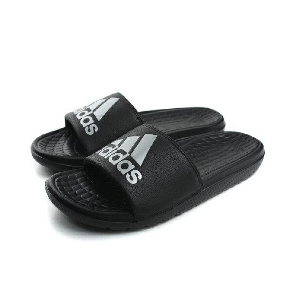 adidas 拖鞋 男鞋 黑色 no347