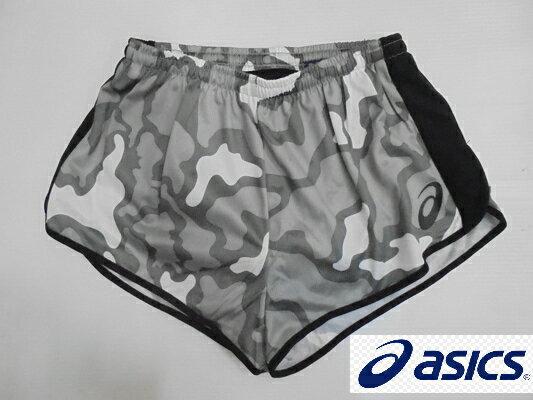 [陽光樂活] ASICS 田徑短褲 有內裡 K31512-9001 灰迷彩