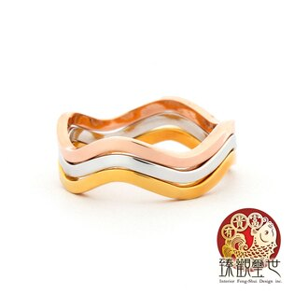 【限量39折 免運費】戒指 精湛流線型三環戒指 含開光  臻觀璽世 IS0295