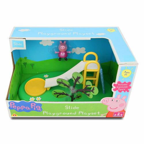 ★衛立兒生活館★【Peppa Pig】粉紅豬小妹可愛遊樂場組-溜滑梯PE05329