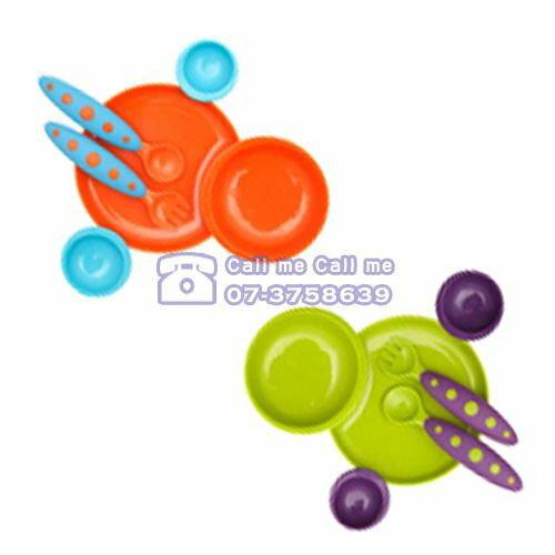 ★衛立兒生活館★美國 boon-GROOVY 互組碗盤餐具組(橘藍/綠紫)