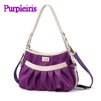 【鳶尾紫】紫色包包 紫色女包 輕便 後背包  最新款女包 尼龍紫色女包女士手提包單肩包斜跨包牛筋布包潮流輕便防水防盜耐刮