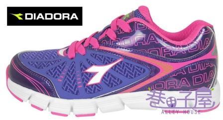 【巷子屋】義大利國寶鞋-DIADORA迪亞多納 女童閃電霹靂輕量跑鞋 [2707] 紫 超值價$756