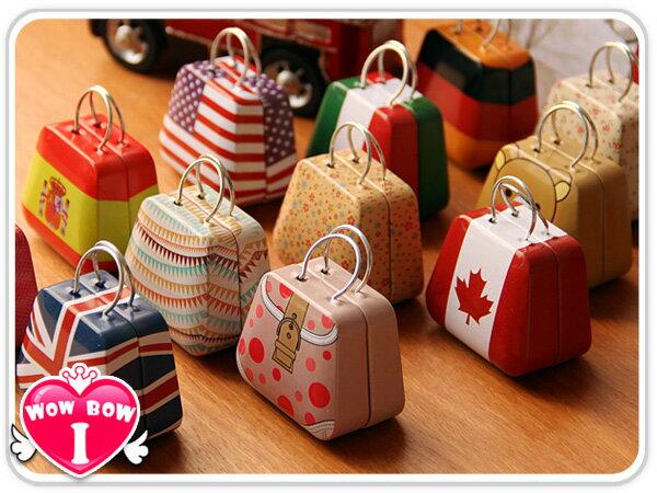 手提包小鐵盒♥愛挖寶 SB-06♥ 手提包造型鐵盒/收納盒/喜糖盒/迷你小鐵盒/飾品收納