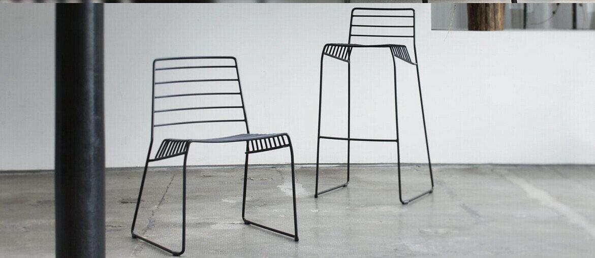 義大利B-Line Park S(Design by Neuland Paster & Geldmacher 2014)椅 鋼絲吧檯椅高77公分 1