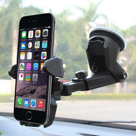 汽車長桿自動鎖手機支架 多功能 懶人支架 衛星導航 旋轉 車用 車架 固定架 吸盤【N202174】