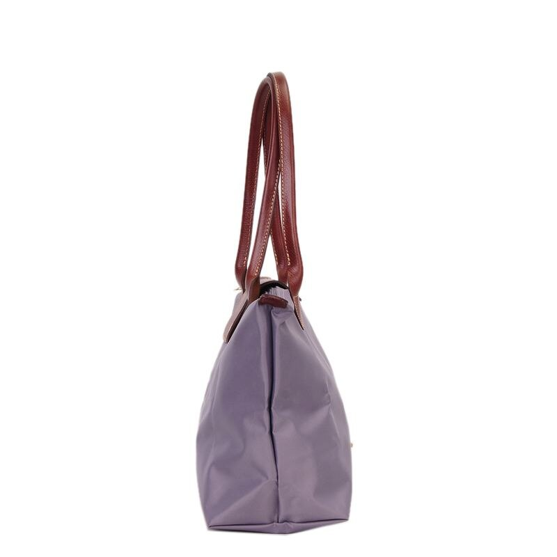 [2605-S號長柄]國外Outlet代購正品 法國巴黎 Longchamp  購物袋防水尼龍手提肩背水餃包 薰衣草 2