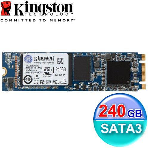 Kingston 金士頓 SSD MS200 240GB【SM2280S3G2】M.2 SATA介面 固態硬碟