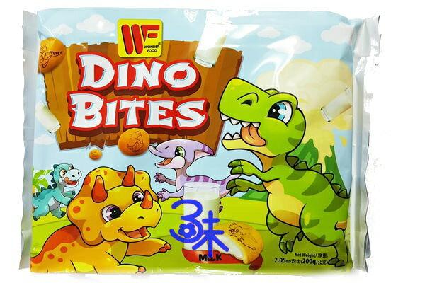 (馬來西亞) 恐龍蛋夾心餅乾 - 牛奶 (牛奶夾心餅乾)1包 200 公克 特價 73 元 【9555311007374 】