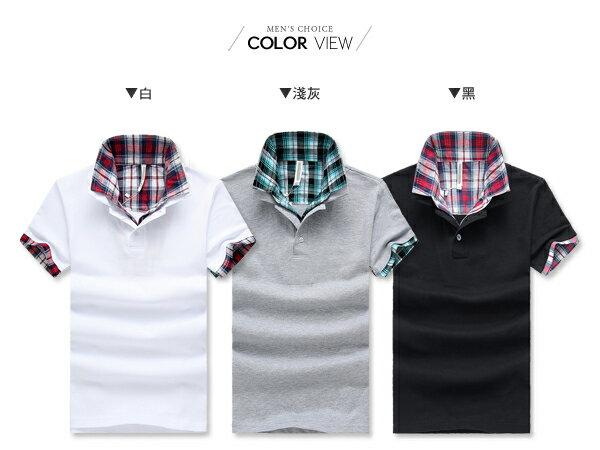 ☆BOY-2☆【NZ93004】休閒經典格紋男裝短袖POLO衫 1