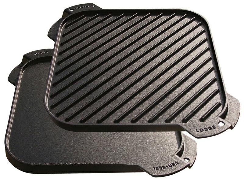 ~鄉野情戶外 ~ Lodge ^ 美國^  LODGE 10.5方型煎盤 鑄鐵烤盤 荷蘭鍋