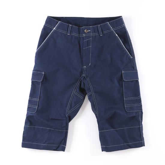 哈克褲/自在式長短褲。深藍色 1