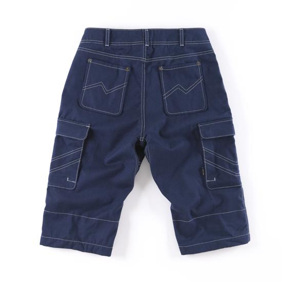 哈克褲/自在式長短褲。深藍色 2