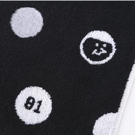 好友點點!黑色款/窄版運動巾 2