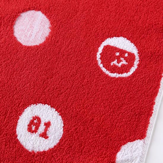 好友點點!紅色款/窄版運動巾 2