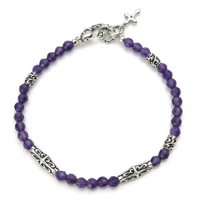 【海外訂購】【Bloody Mary】Ritual 歌德紫水晶純銀手鍊 19cm (BMB1100-A-19  058360D200) 1