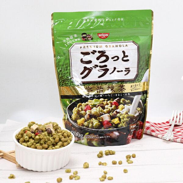 有樂町進口食品 日本空運來台 日清NISSIN早餐燕麥片 日清宇治抹茶早餐麥片 500g 4901620160210
