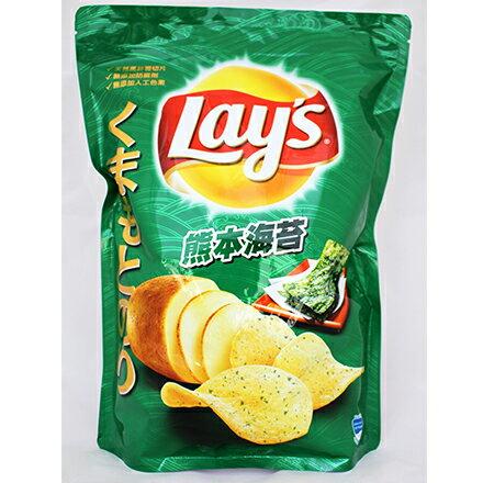 【敵富朗超巿】激大包450g樂事熊本海苔洋芋片-2包入 0