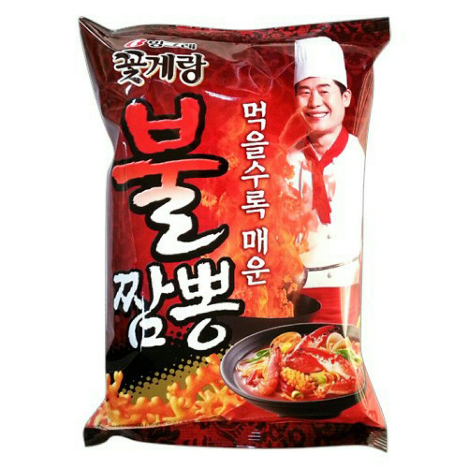 有樂町進口食品 韓國版阿基師推薦 李連福螃蟹炒碼麵餅乾 70g 8801111919609 2