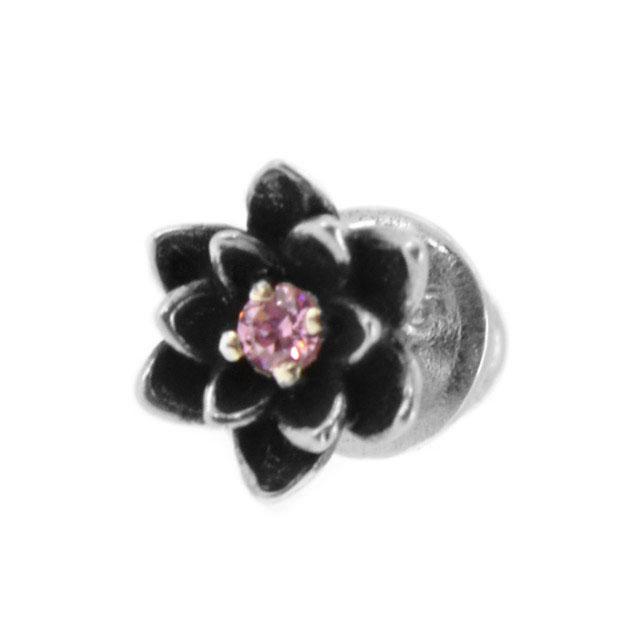 【海外訂購】【KONRON】蓮之寶石純銀耳環(KRE1175-Cz-Purple  05953500R4) 0