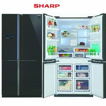 【SHARP】夏普603L 進口變頻4門冰箱(SJ-FS79V/SJ-FS79V-BK) 【零利率】【熱線07-7428010】