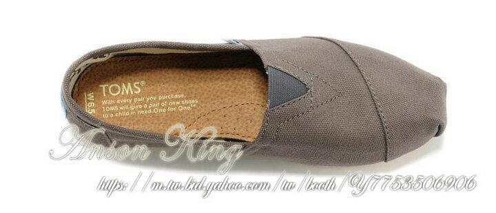 [女款] 國外代購TOMS 帆布鞋/懶人鞋/休閒鞋/至尊鞋 帆布系列  灰色 3