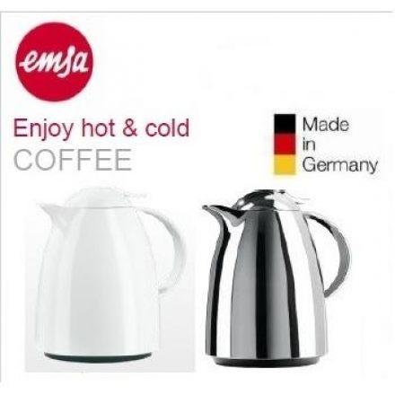 【德國EMSA】巧手壺系列真空保溫壺 銀色 1.0L(624101600)/1.5L(624151600)