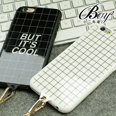 ☆BOY-2☆【N4006】黑白格線掛繩手機保護殼 蘋果iPhone6/6S 6plus - 限時優惠好康折扣