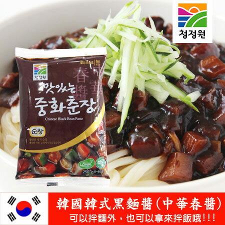 韓國 韓式黑麵醬 中華春醬 250g 黑醬 甜麵醬 DIY 炸醬麵醬 春醬 進口食品【N100555】