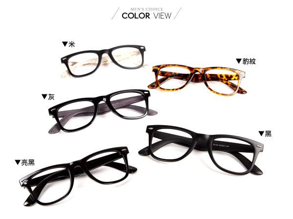☆BOY-2☆【NQ-WB78169】時尚粗框眼鏡-4色 現+預 1