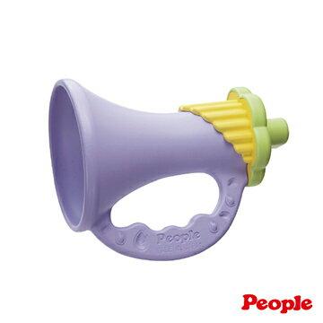 【安琪兒】日本【People】新彩色米的喇叭咬舔玩具(米製品玩具系列)-KM018 - 限時優惠好康折扣
