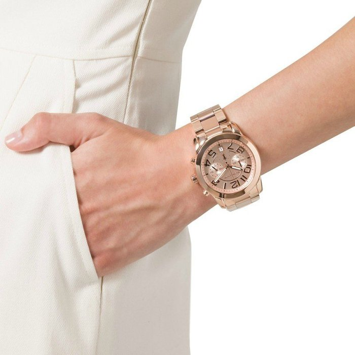 【MICHAEL KORS】正品 時尚玫瑰金三眼計時錶 MK5727 2
