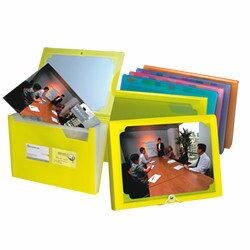 65折~10個量販~HFPWP 12層風琴夾封面可DIY 果凍色 環保無毒 FW4302~