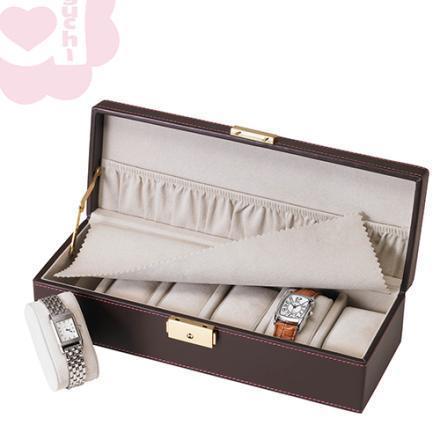 【Aguchi 亞古奇】奢華錶情-貴族棕 錶盒(氣質貴族系列) 1