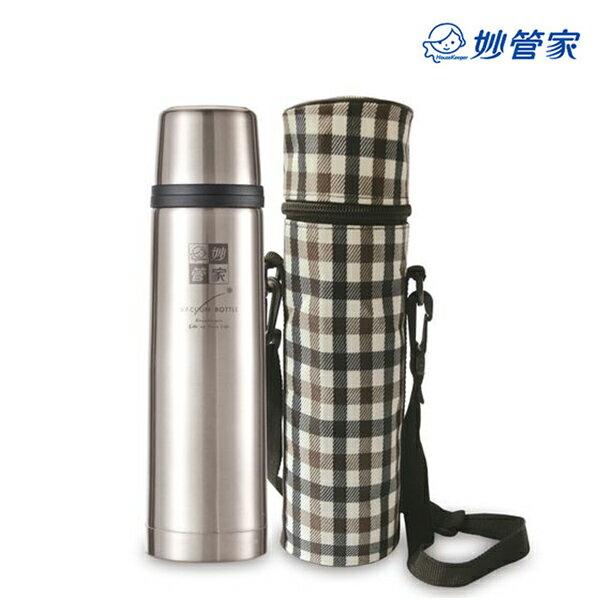 【妙管家】500cc真空#304不鏽鋼保冰/保溫瓶(附帆布袋)HKV-500S